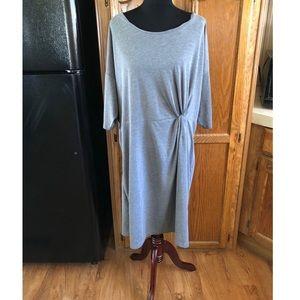 NWT Junarose Grey MIDI Dress Size 2X